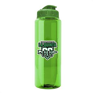 32 Oz. Transparent Color Bottle W/ Flip Lid