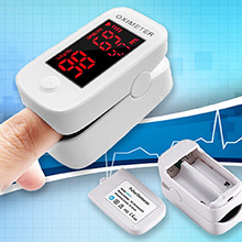 USA Stock Fingertip Pulse Oximeter w/ LED Display
