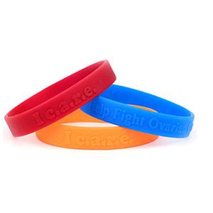 "1"" Embossed Wristband"