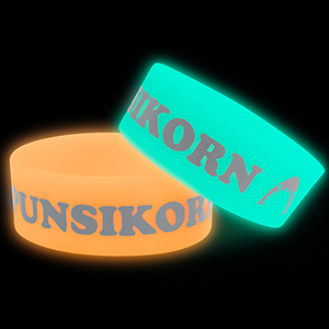 "1"" Glow-in-the-Dark Wristband"