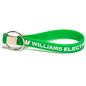 Color-Filled Silicon Key Tag Wristband