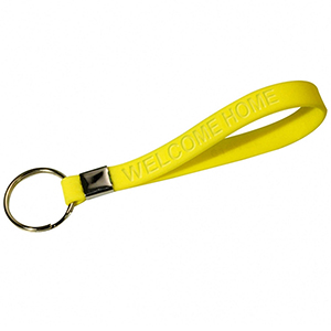 Debossed Silicon Key Tag Wristband