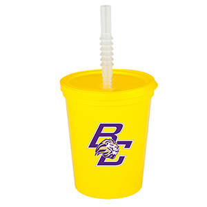 16 oz Plastic Sports Cups w/ Lid and Straw