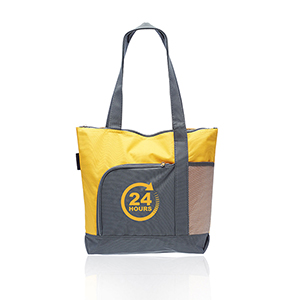 Two-Toned Zippered Tote Bags