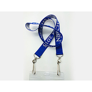 "5/8"" Double Ended Woven Lanyard"