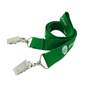 """1/2"""" Double Ended Polyester Lanyard"""
