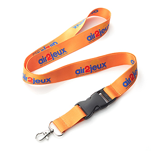 "3/4"" Dye Sublimated Lanyard w/ Buckle Release"