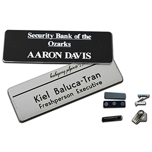 "1.25"" x 3"" Engraved Name Badge"