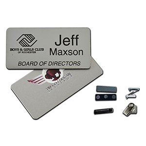 "1.5"" x 3"" Metal Name Badge"
