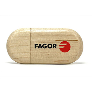 Round Wooden USB Drives - 128MB